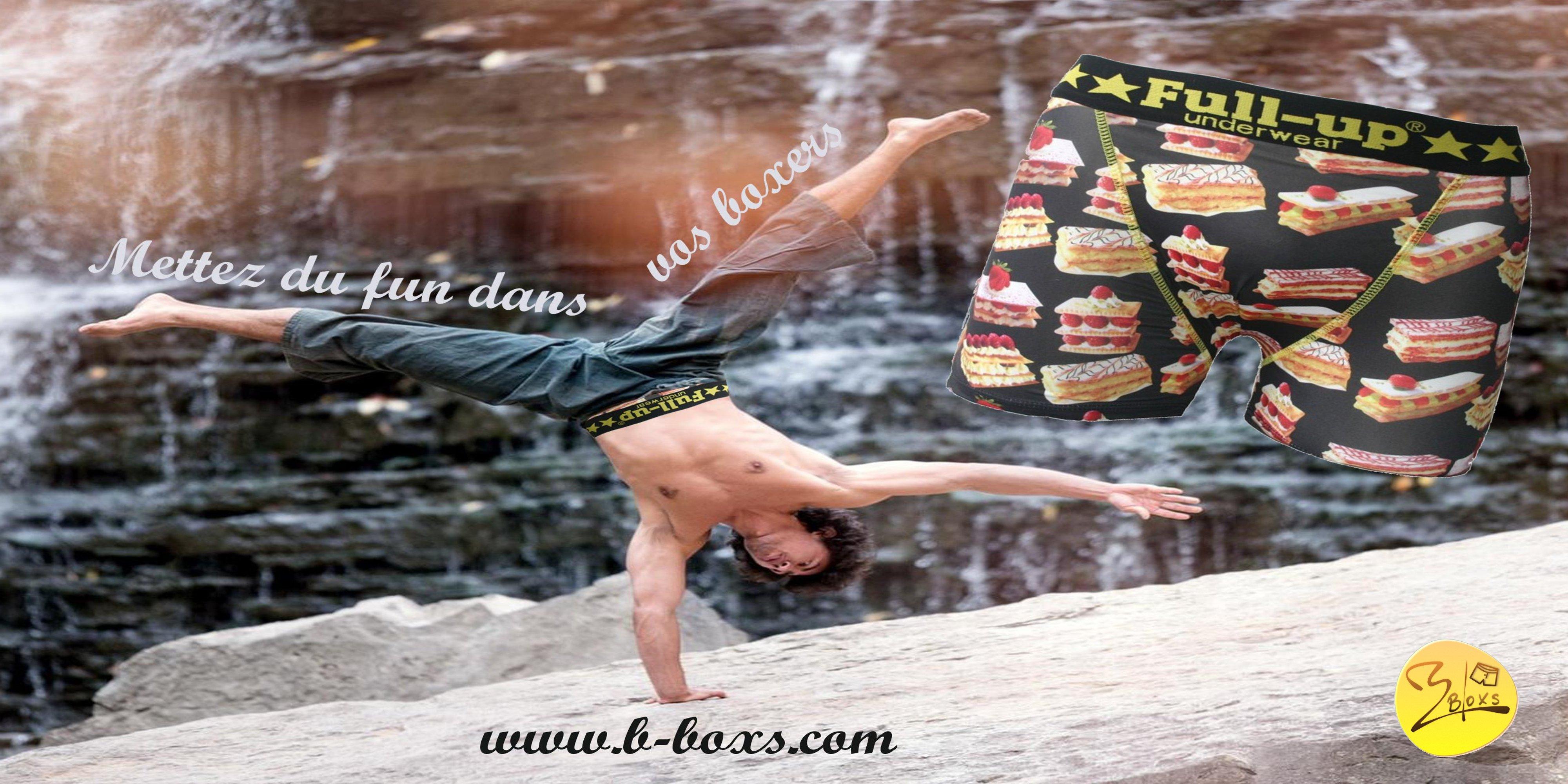 boxer homme full-up  motif gateaux